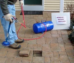 removing paver